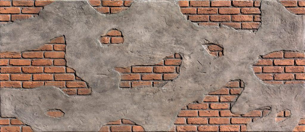 Tuğla Panel Ladrillo Cemento Kızıl